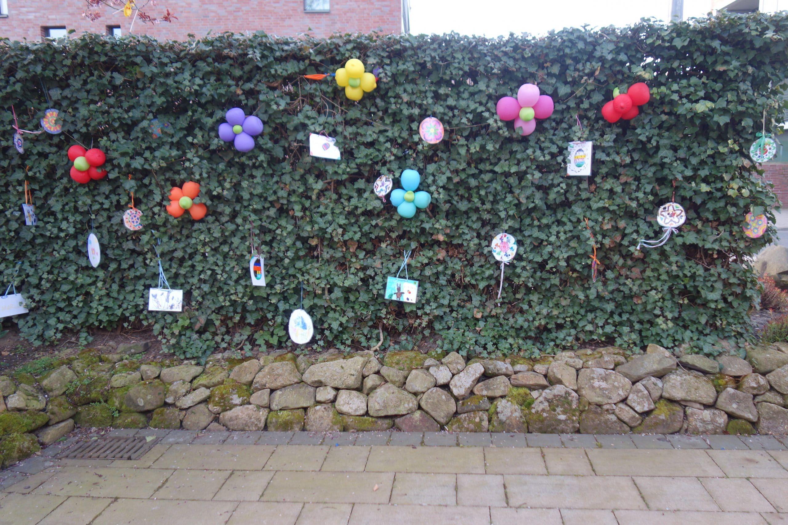 Osterdekoration vom Liebfrauen Kindergarten